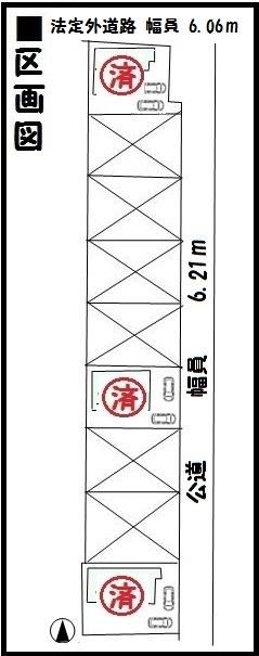 【天理市第3東井戸堂町 新築一戸建て 】区画図面