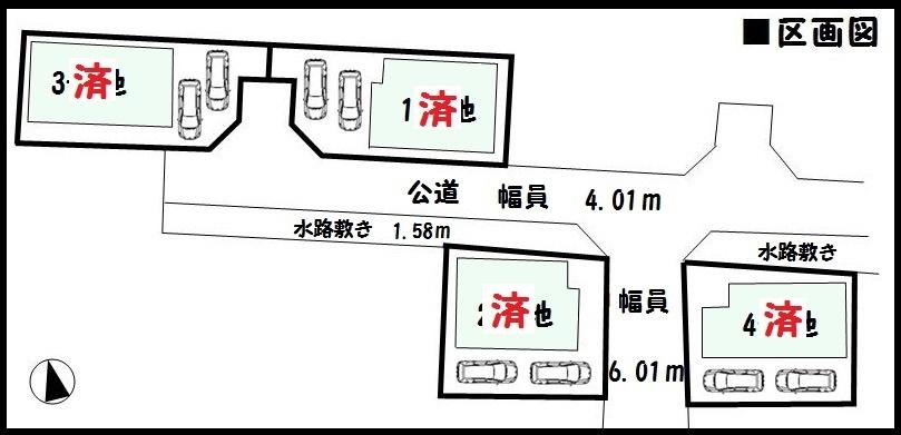 【田原本町千代第3 新築一戸建て 】区画図面