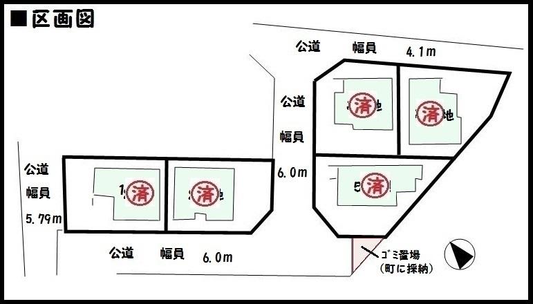 【河合町池部 新築一戸建て】区画図面