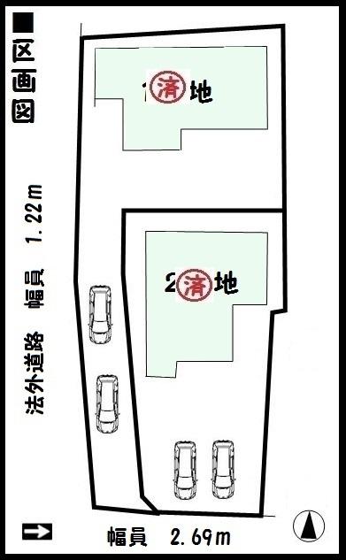 【広陵町第6三吉 新築一戸建て 】区画図面