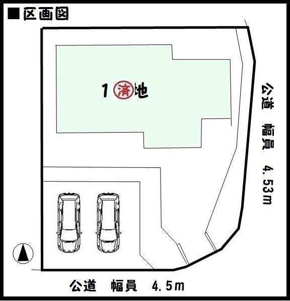 【大和郡山市第3千日町 新築一戸建て 】区画図面