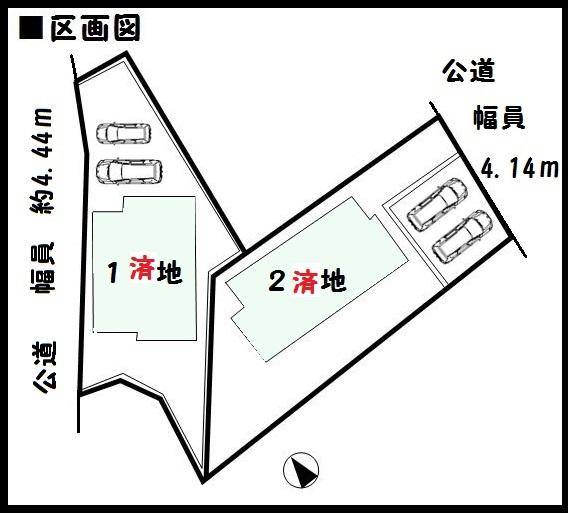 【生駒市第2壱分町 新築一戸建て 】区画図面