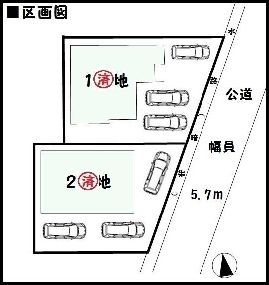 【安堵町東安堵 新築一戸建て 】区画図面