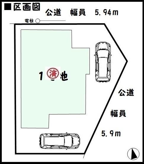 【大和郡山市第6小泉町 新築一戸建て 】区画図面
