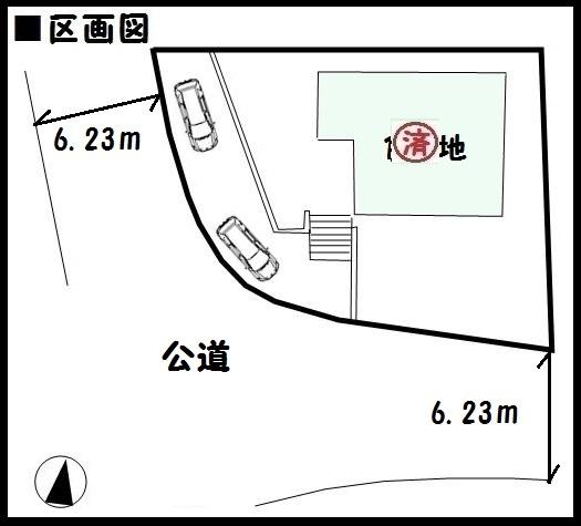 【河合町泉台3丁目 新築一戸建て 】区画図面