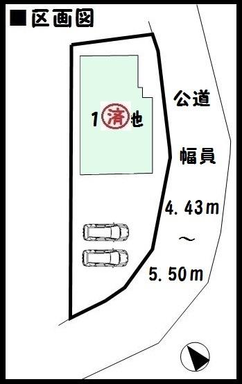 【大和郡山市外川町 新築一戸建て 】区画図面