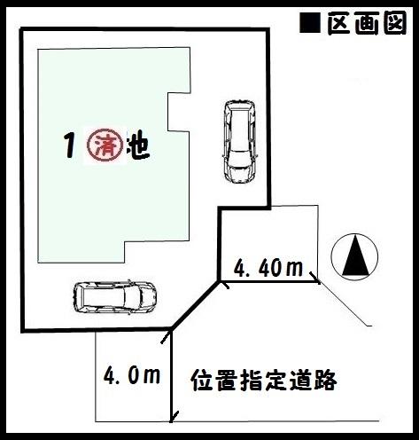 【大和郡山市今国府町第1 新築一戸建て 】区画図面