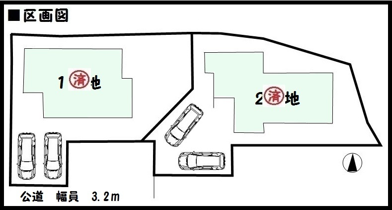 【奈良市第5疋田町 新築一戸建て 】区画図面