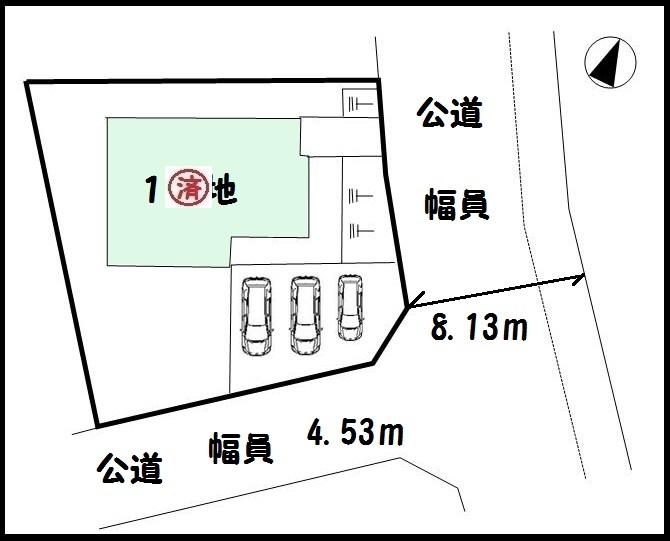 【大和郡山市矢田山町 新築一戸建て 】区画図面