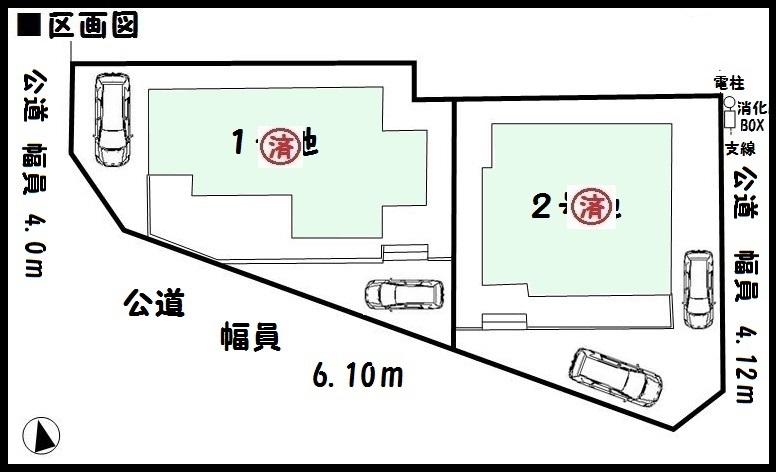 【橿原市第3木原町 新築一戸建て 】区画図面