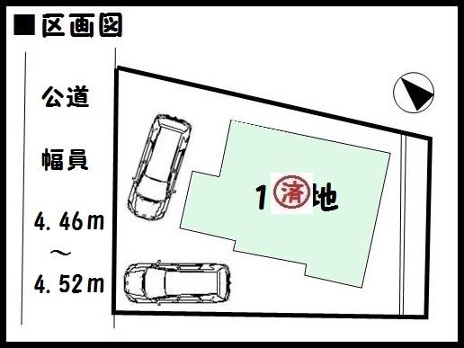 【奈良市五条西第1 新築一戸建て 】区画図面