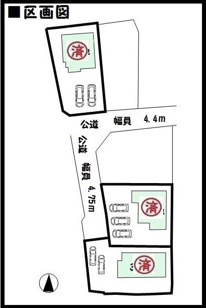 【斑鳩町法隆寺東 新築一戸建て 】区画図面