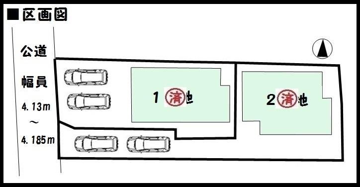 【大和郡山市小泉町第19 新築一戸建て 】区画図面