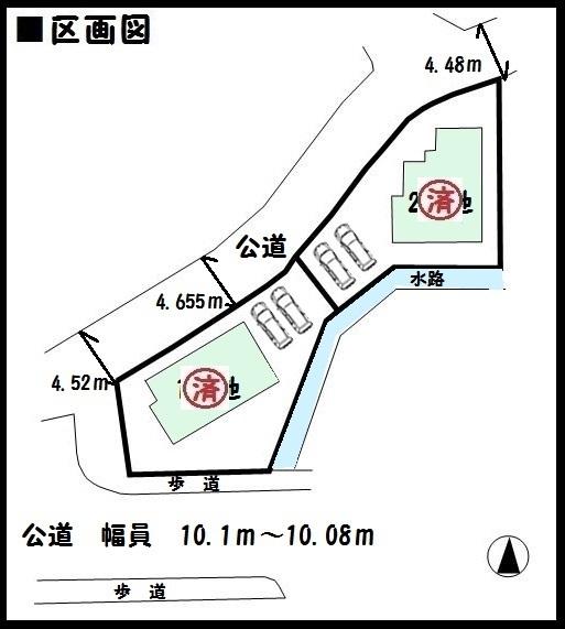 【生駒市南田原町第2 新築一戸建て 】区画図面