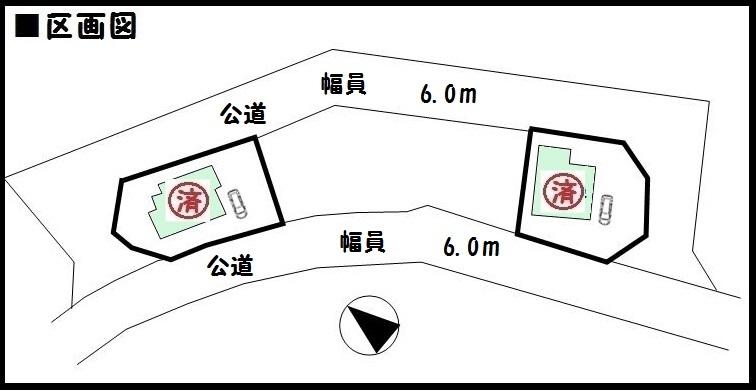 【奈良市石木町第2 新築一戸建て 】区画図面