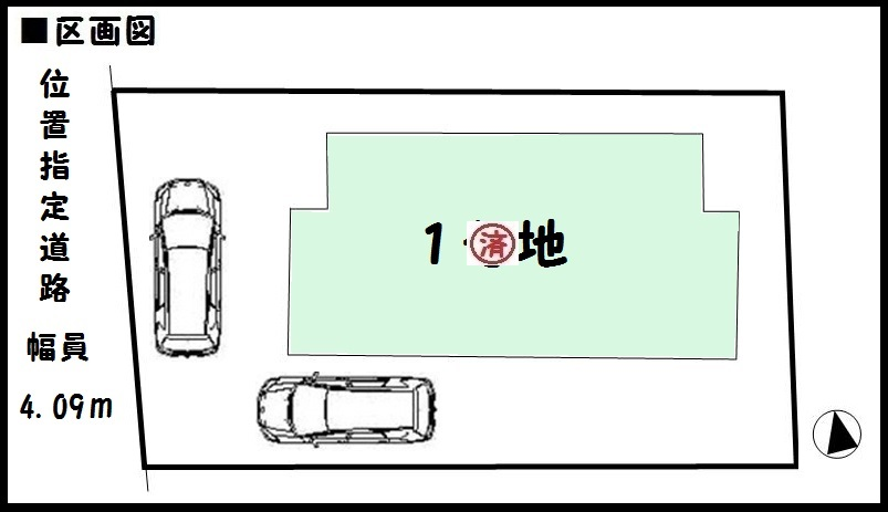 【奈良市第3法華寺町 新築一戸建て 】区画図面