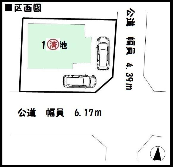 【橿原市中曽司町第3 新築一戸建て 】区画図面