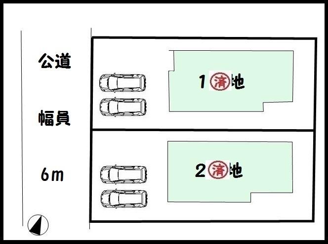 【奈良市学園大和町1丁目 新築一戸建て 】区画図面