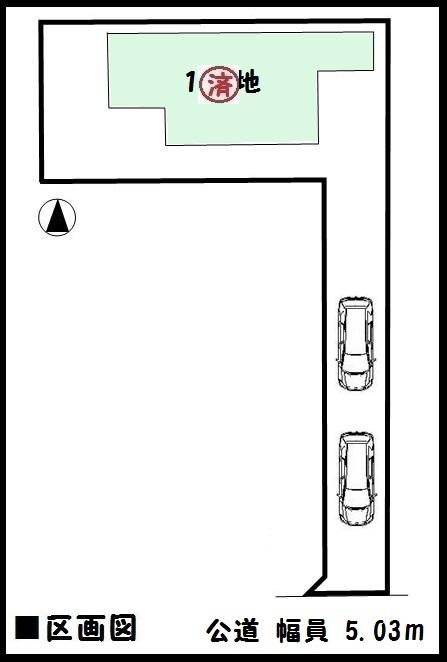 【天理市第4二階堂上ノ庄町 新築一戸建て 】区画図面