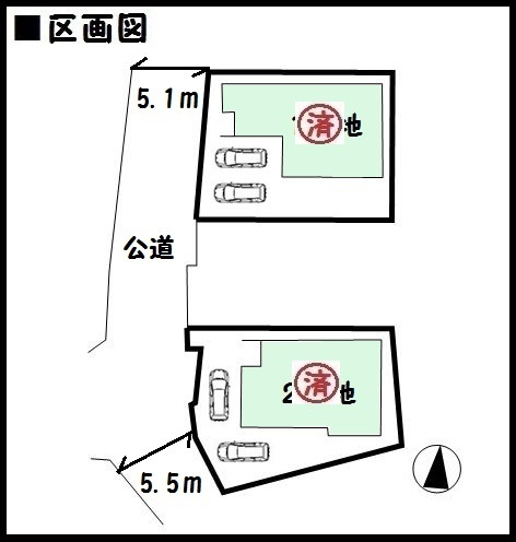 【奈良市大森町 新築一戸建て 】区画図面