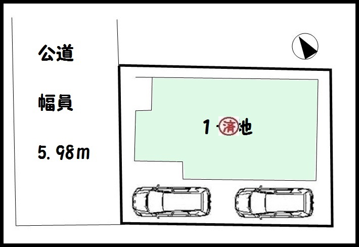 【橿原市北妙法寺町第1 新築一戸建て 】区画図面