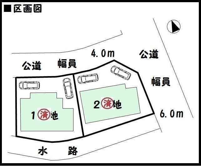 【大和郡山市矢田町 新築一戸建て 】区画図面