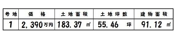 【奈良市第8六条 新築一戸建て 】区画図面