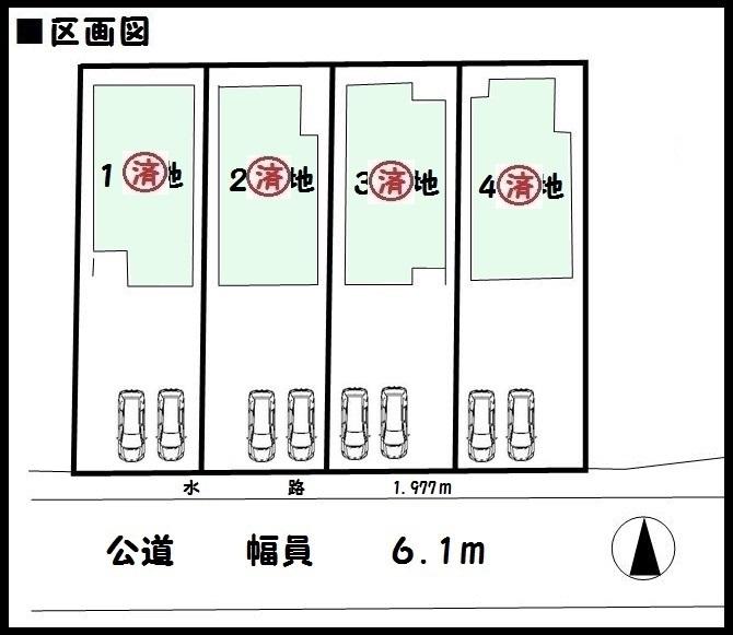【大和郡山市南井町3期 新築一戸建て 】区画図面