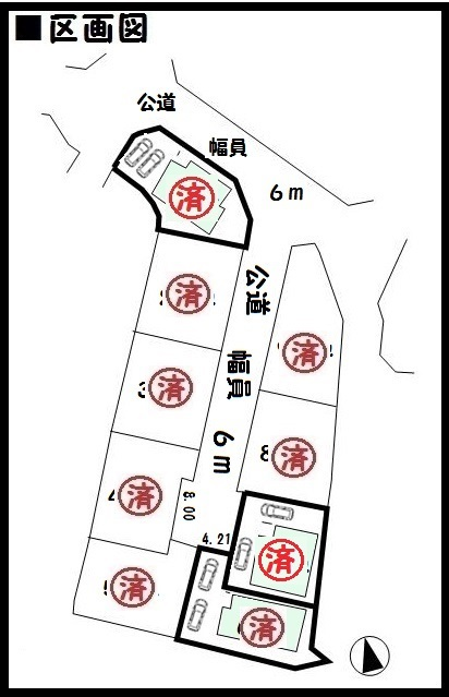 【三郷町立野北第5 新築一戸建て  】区画図面