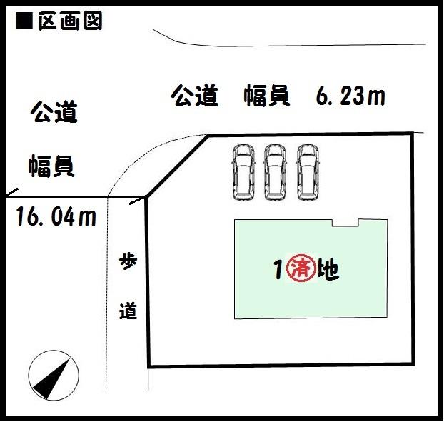 【生駒市鹿ノ台東2期 新築一戸建て 】区画図面