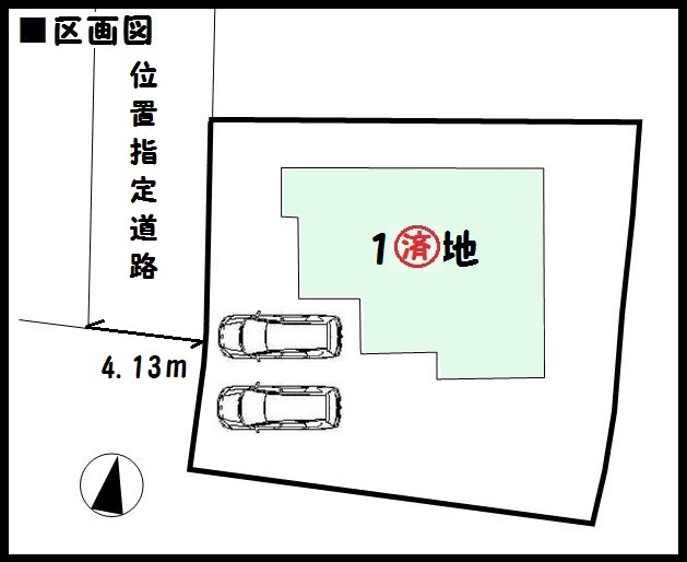 【奈良市秋篠町 新築一戸建て】区画図面