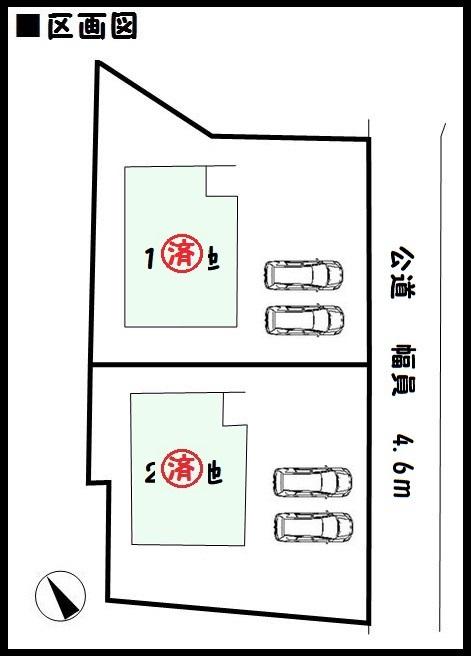 【三郷町三室第3 新築一戸建て 】区画図面