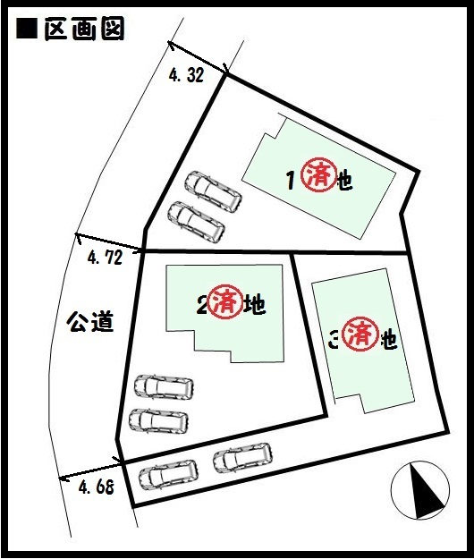 【三宅町但馬19-1期 新築一戸建て 】区画図面