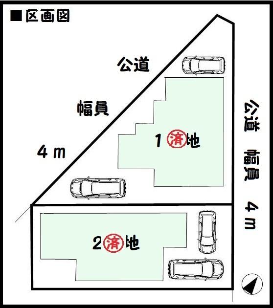 【大和郡山市第15小泉町 新築一戸建て 】区画図面
