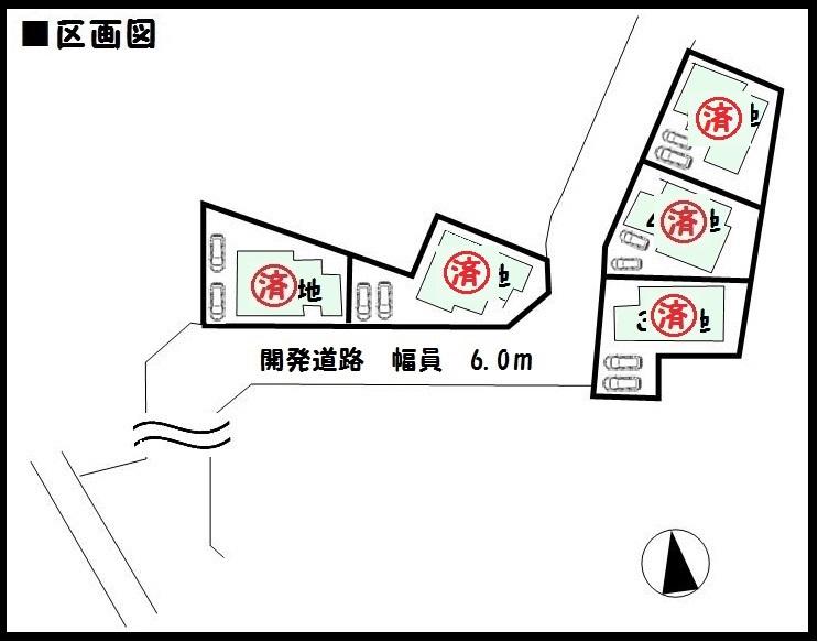 【広陵町三吉19-1期 新築一戸建て 】区画図面
