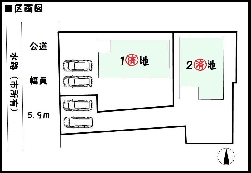 【橿原市光陽町第1 新築一戸建て 】区画図面