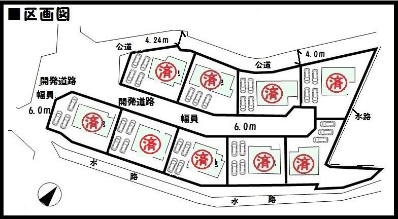 【奈良市学園朝日元町4期 新築一戸建て 】区画図面