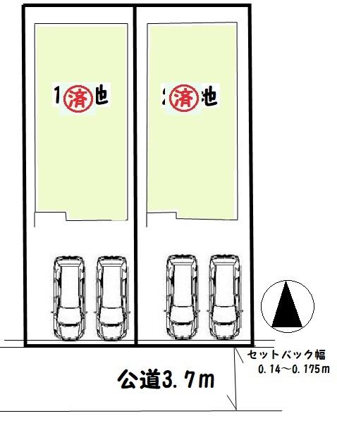 【大和郡山市豆腐町 新築一戸建て 】区画図面
