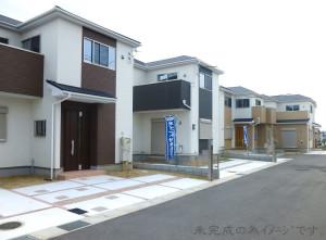 【奈良市第6三松 新築一戸建て 残り3区画!】外観写真