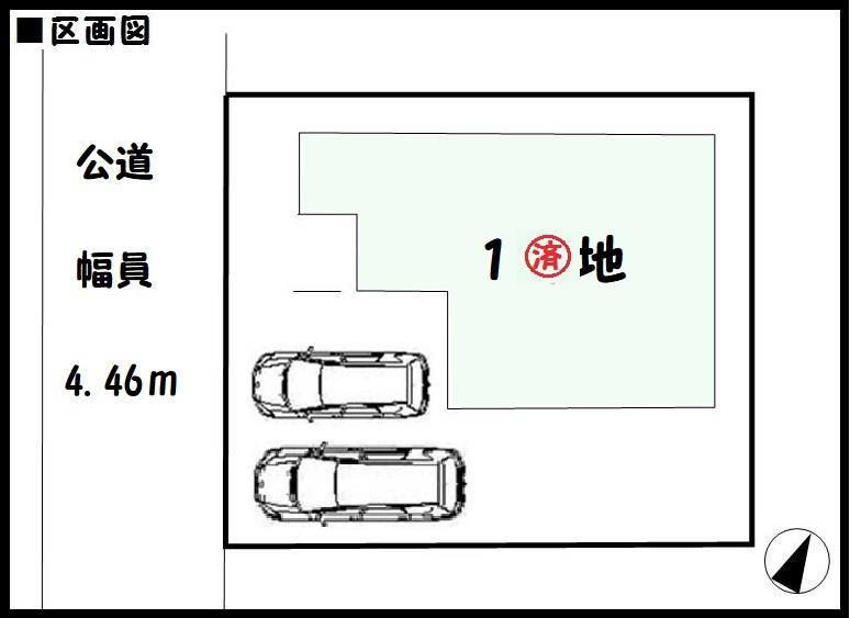 【奈良市第5帝塚山 新築一戸建て 】区画図面