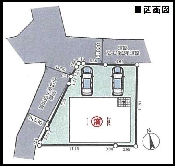 【奈良市古市町第15 新築一戸建て 】区画図面
